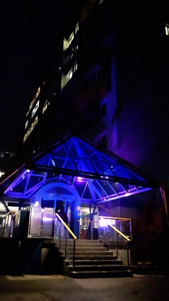 podświetlenie szpitala
